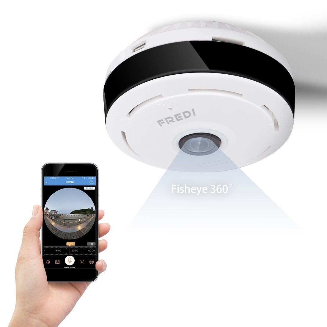 FREDI 720P Wireless WiFi IP Security Camera