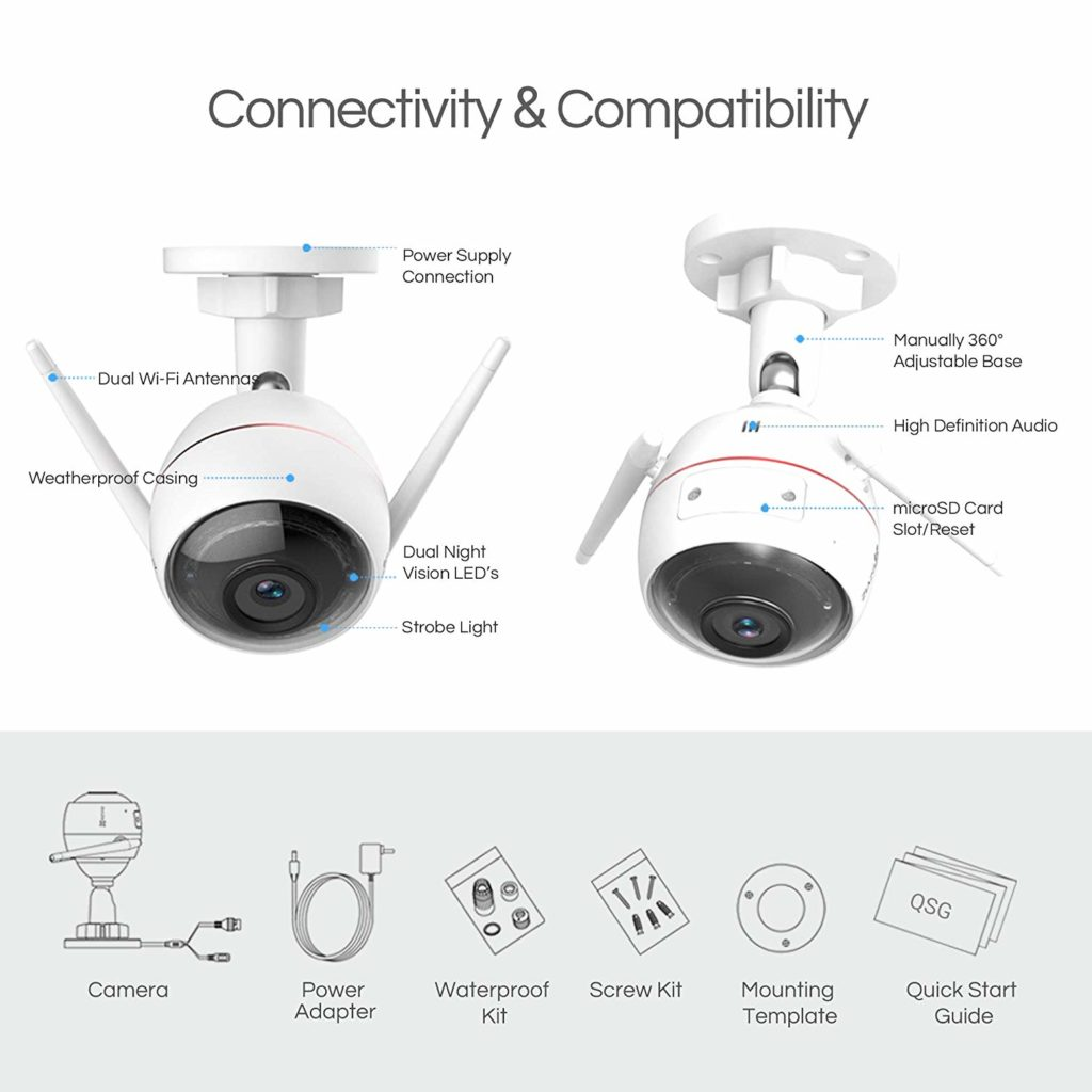 EZVIZ Outdoor Security Camera features