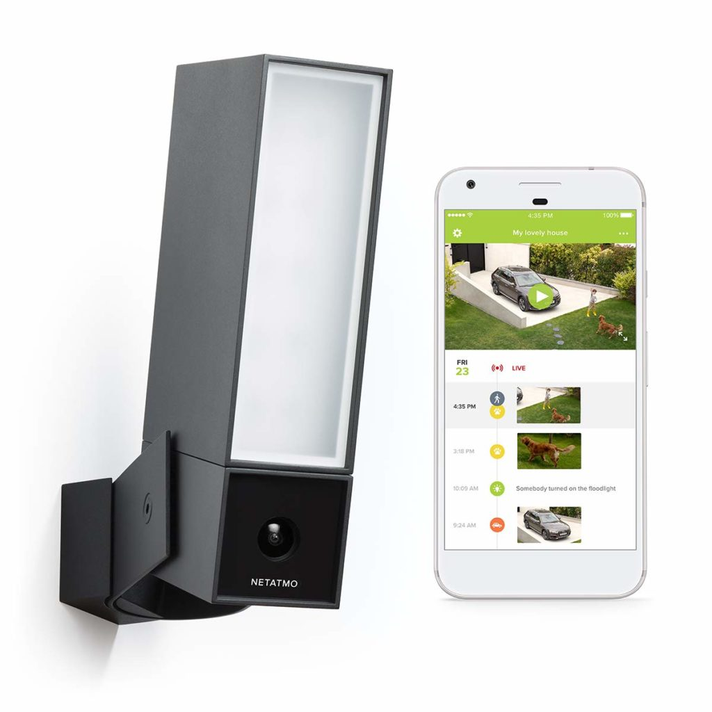 Netatmo Presence Smart Outdoor Security Camera with Integrated floodlight