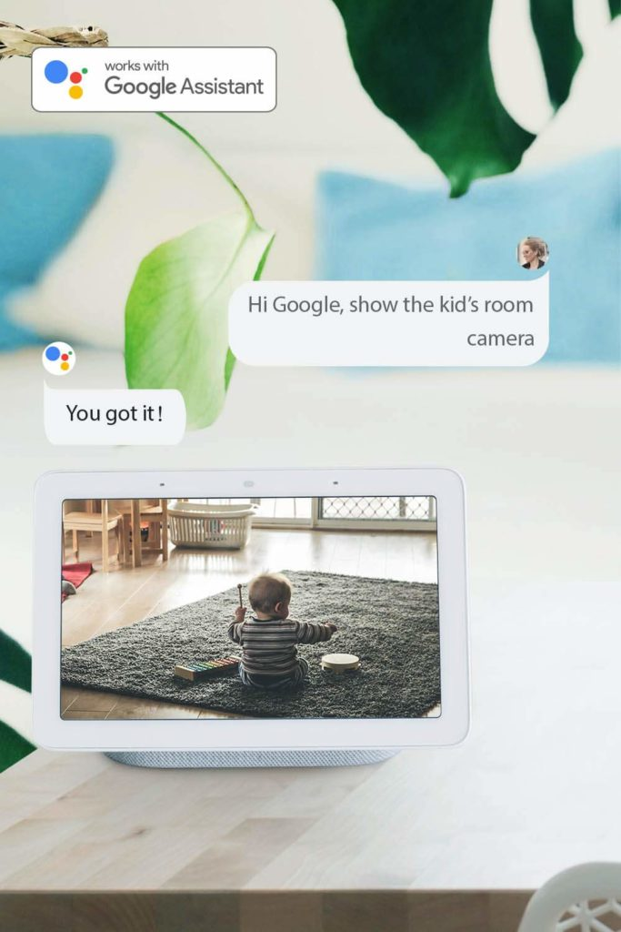 Reolink WiFi Security Camera Google Assistant