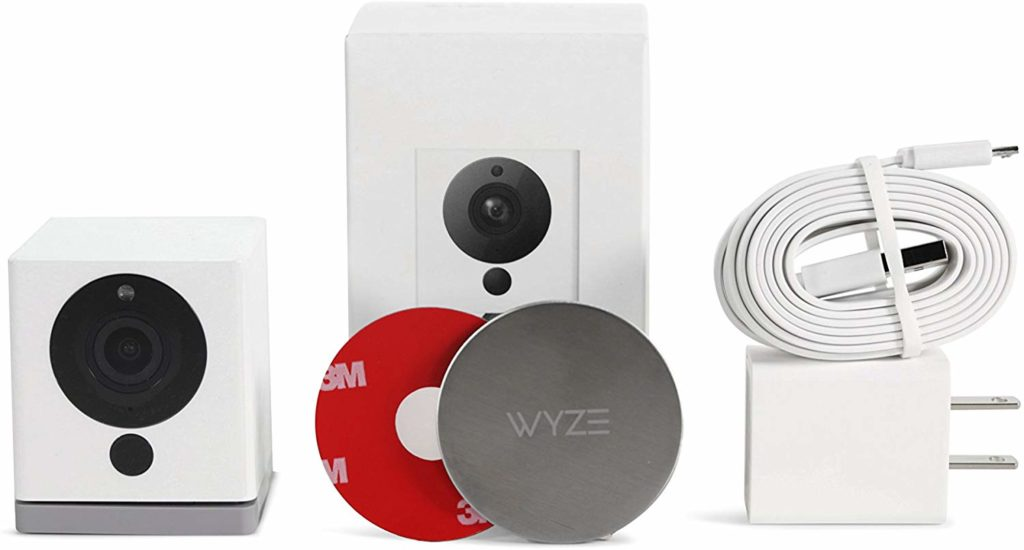 Wyze Cam 1080p HD Indoor Wireless Smart Home Camera in the box