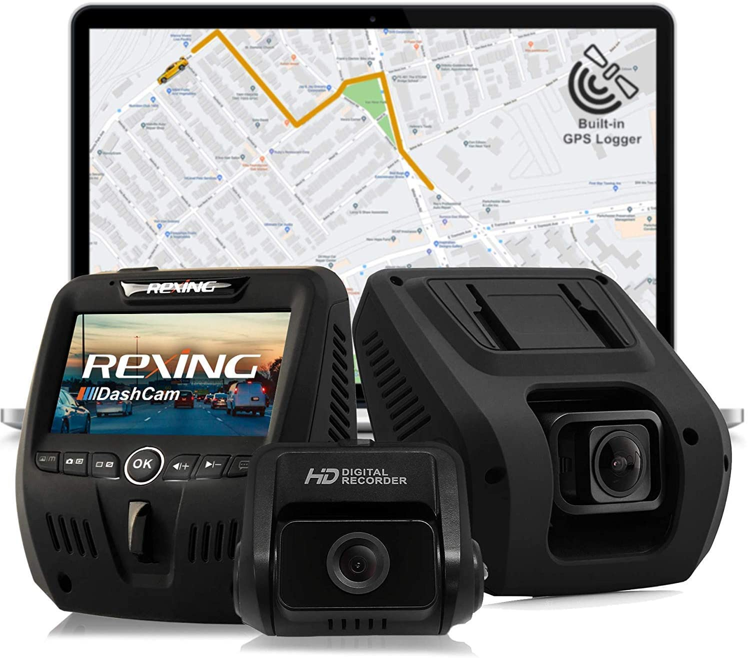 Rexing V1LG dual channel dash camera